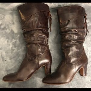 🍁🍁High Boots 💯 Fall Winter Brown Leather ALDO